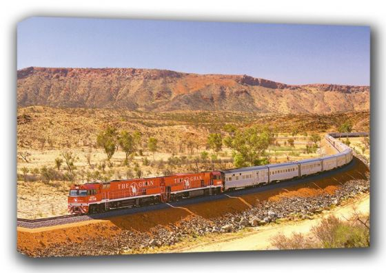The Ghan. Australian Train/Railway Canvas. Sizes: A3/A2/A1 (001053)